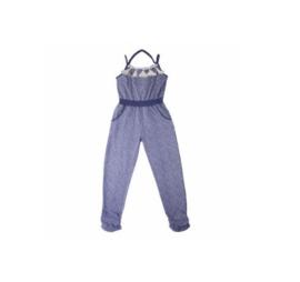 LoFff jumpsuit donker blauw- wit Z7915-02