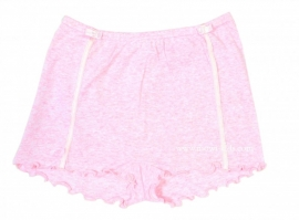 1 Hanssop  boxer  roze met strikjes maat 152