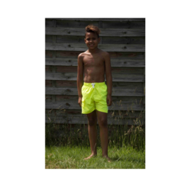 01 Just Beach Coconut Neon Yellow board short