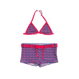 001 ZEE & ZO Poppy Cubic Blue bikini