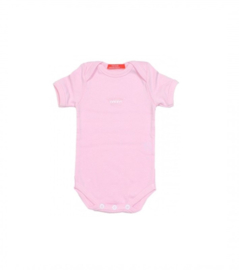 001 Hanssop roze romper kroontje maat 74/80