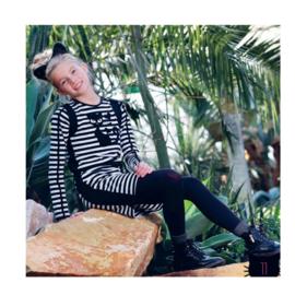 001 LavaLava jurk 19-222 zwart-wit voordeel