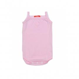 001  Hanssop roze romper  met hartje maat 50/56