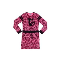 0003 LavaLava jurk cat zwart-roze 19-219