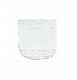 0003 Hanssop broekje wit met roezeltje maat 50/56
