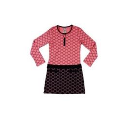 002 LoFff Jurk -Pink/Black- Z8015-01
