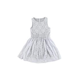0006 IDO jurk wit kant maat 116