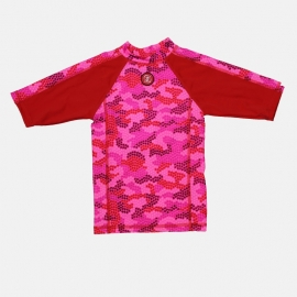 00001 Zee & Zo Aina Camo Star red UV-werend shirt maat 92