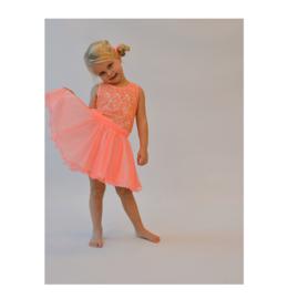 0001 LoFff jurk dancing  peach Z8360