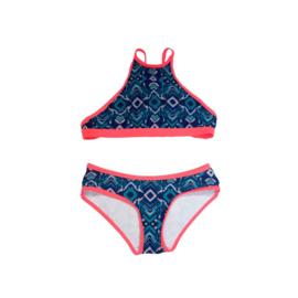 ZEE & ZO Buttercup Boho Blue bikini