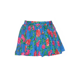 01 Mim-Pi 246  blauwe rok met rozen print
