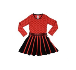 005 LoFff Jurk -Black/Red- Z8004-01