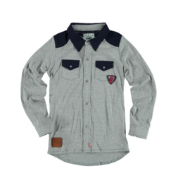 06 Blue Star Jeans grijze blouse BSW-0800