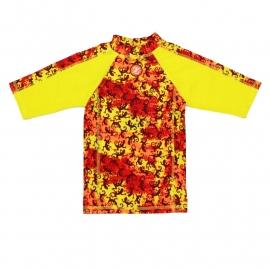 00001 Zee & Zo Aina salamander yellow UV-werend shirt maat 122-128