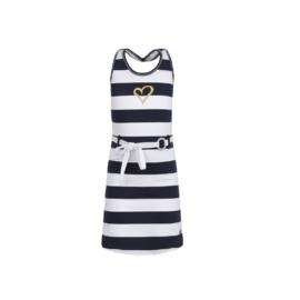 0 LoFff jurk blauw-wit  Z8565-56