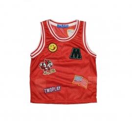 021 Two Play Basketbal hemd Rood