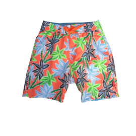 Far Out zwemshort 719214 oranje blauw-groen wit palm