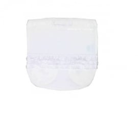 0003 Hanssop broekje wit met roezeltje maat 50/56 VOORDEEL