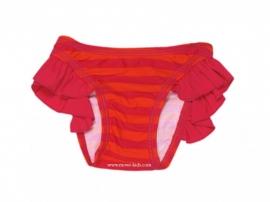 0001 Claesen`s zwembroekje roze/oranje gestreept maat 62-68 (M)