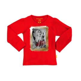 0002 Stones en Bones -shirt  rood snow fun maat 92