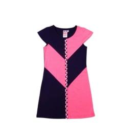 000011  LoFff  Victory jurk  blauw-roze  Z8114-03