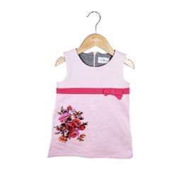 02 Ducky Beau  jurk roze maat 80