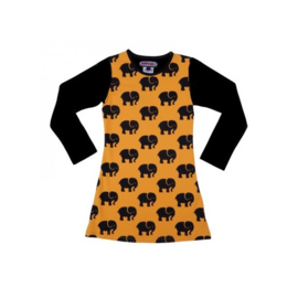 0001 Happynr1 Jurk -Yellow/Black- HP-18-244