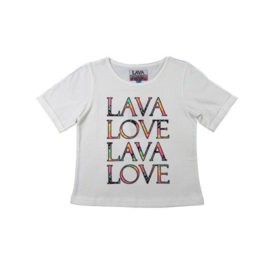 LavaLava T-shirt wit 17-241