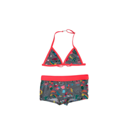 001 JUST BEACH Apple Patch Stripe Bikini