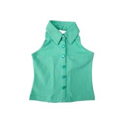 LoFff halterneck blouse groen z7554-02