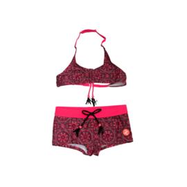 001 ZEE & ZO Daisy Maroccan Red bikini