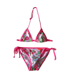 001 Far out bikini Jaylana Triangel romantic pink flowers