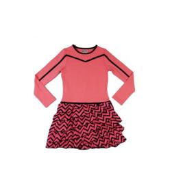 002 LoFff Jurk -Pink/Black- Z8008-02