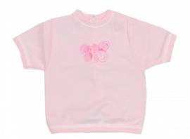 001 Hanssop baby shirt roze  maat 50/56