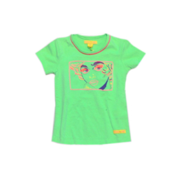 0001 Kidz Art shirt flou green 067j10 maat 104