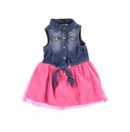 001 IDO jurk spijkerjurkje rozet maat 80
