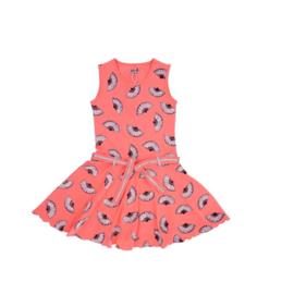 0001 LoFff jurk fans peach Z8301-02
