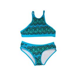 0001 ZEE & ZO Buttercup Feather Blue bikini