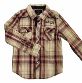 08 Deeluxe blouse geblokt maat 128/134