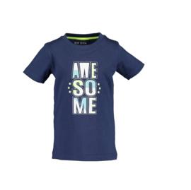 00002 Blue Seven shirt donker blauw 802189