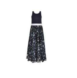 0 LoFff jurk blauw maxi Z8569-50