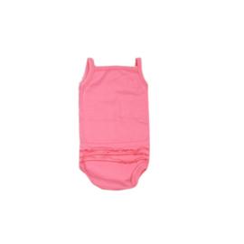 001 Hanssop roze romper met roezeltje maat 74/80