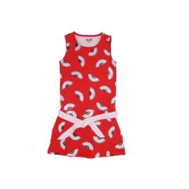 000013 LoFff jurk Alicante rood  Z8314-02