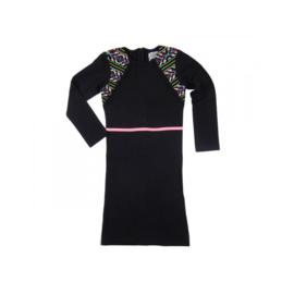 1 LavaLava jurk venice longsleeve zwart 17-227A