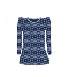000012 LoFff  jurk blauw Z8404-53