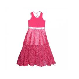 000019 LoFff  Maxi jurk -  roze -Z8106-01