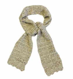 0012 Pashing sjaal meiden beige color  1 maat
