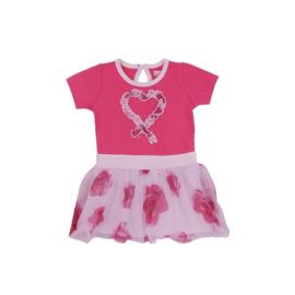00001  LoFff jurk dansing roze B8308-01