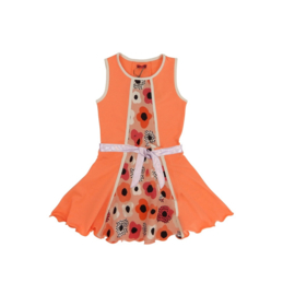 0000 LoFff jurk bright  peach Z8356