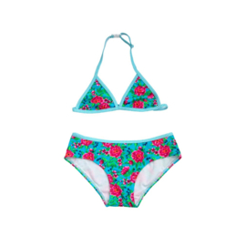 001 ZEE & ZO Lily Flower Blue bikini
